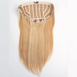 "21"" 100% Human Hair CLIP-IN EXTENSIONS Blonde"